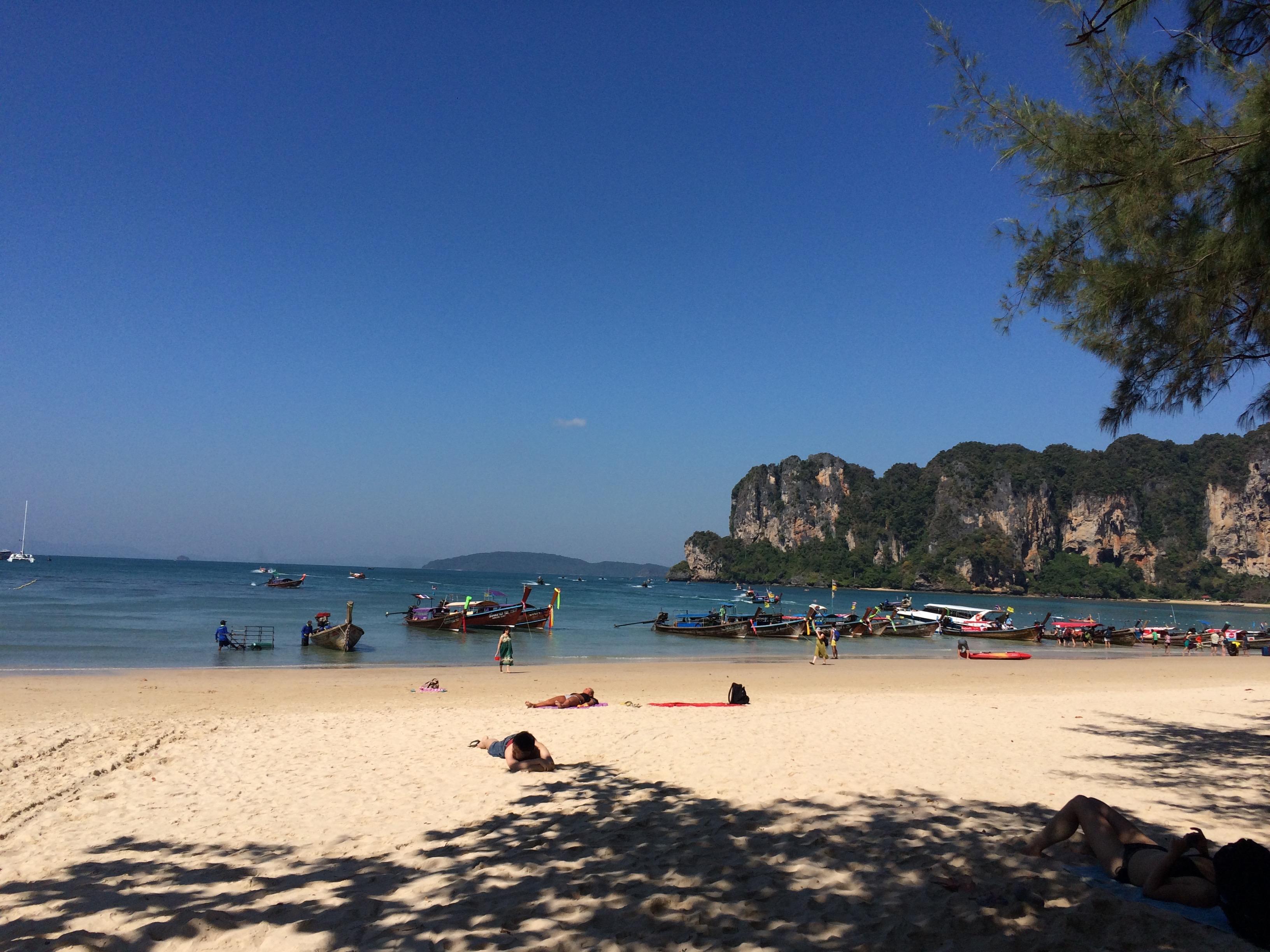 Phra Nang: pra passar o dia todo sem fazer nada! (Foto: Nathalia Tavolieri / Viagem em Detalhes)