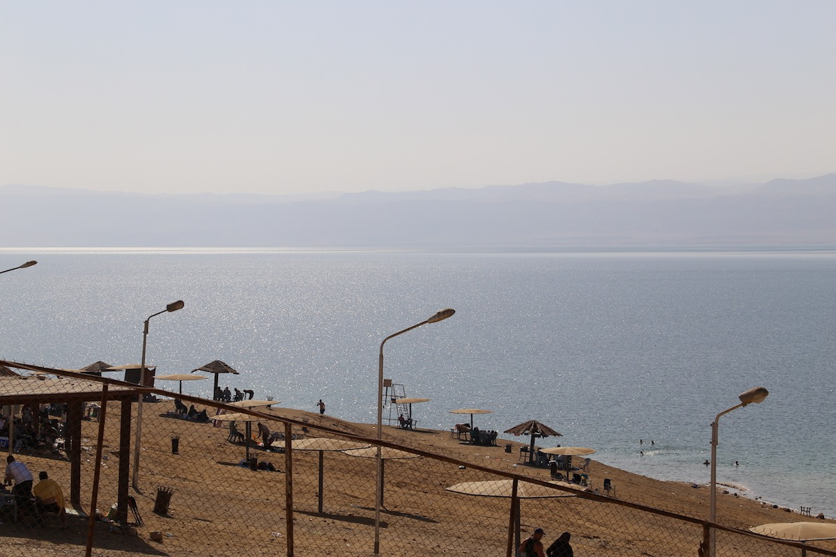Praia exclusiva para locais ao lado de Amman Beach. (Foto: Nathalia Tavolieri)