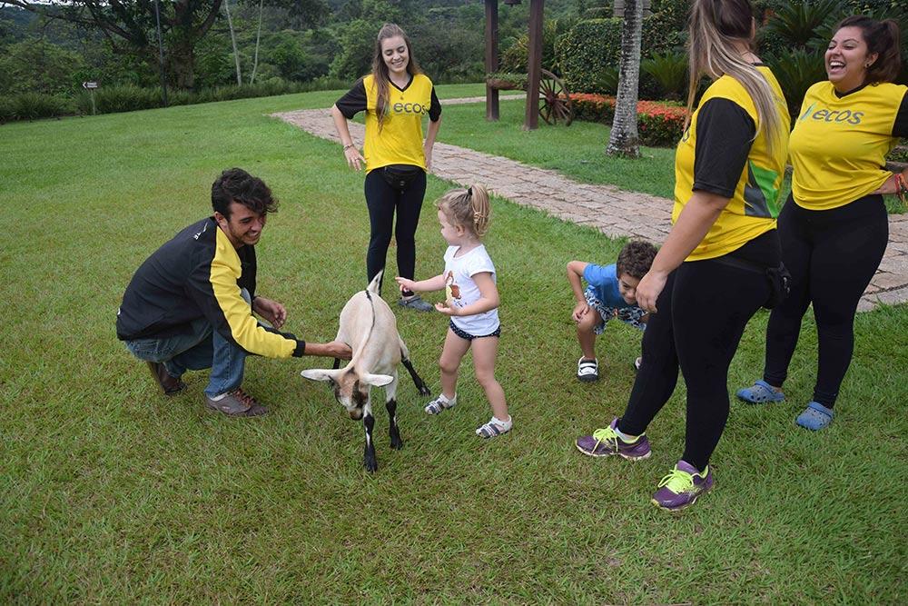 Recreação no Fazenda Capoava, um dos melhores hotéis para ir com crianças perto de São Paulo! Descubra outros nesse post!