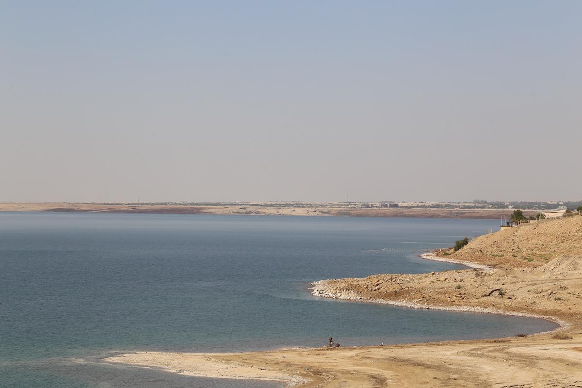 Área pública para banhistas no Mar Morto. (Foto: Nathalia Tavolieri)