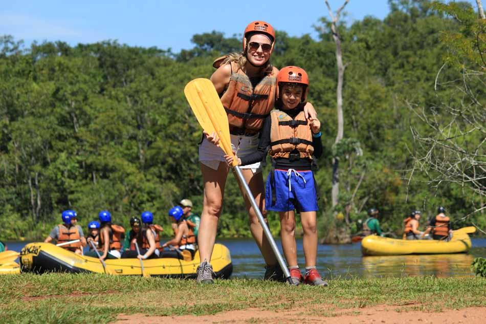 Rafting em Brotas com crianças